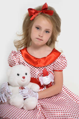 a little girl dressed in the style of the 60s Stock Photo - 15429162