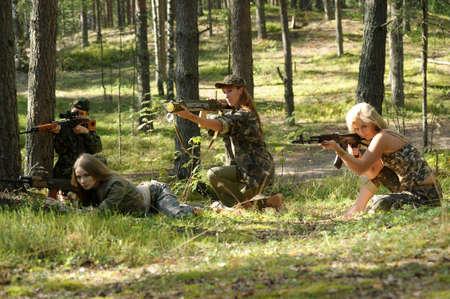 four armed girl Stock Photo - 15975941