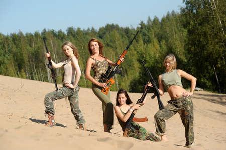 four armed girl Stock Photo - 15975935