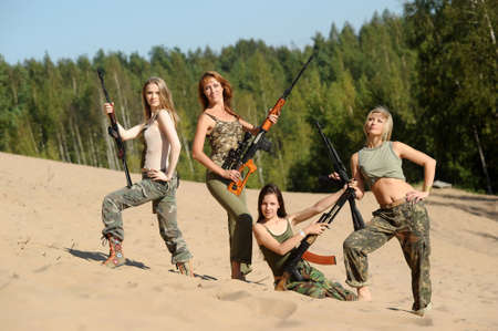 four armed girl photo