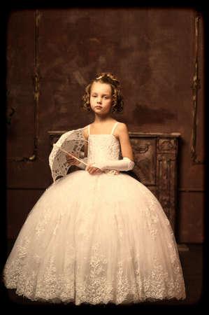 little princess retro with umbrella