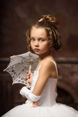 little princess retro with umbrella photo