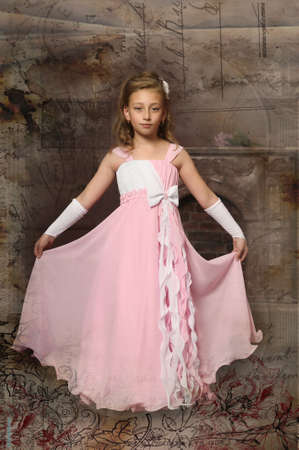 hairband: little princess in a pink dress Stock Photo