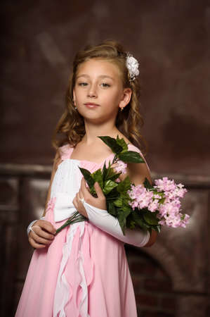 little princess in a pink dress Stock Photo - 16411685
