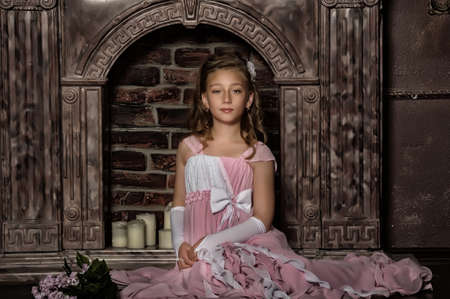 little princess in a pink dress photo