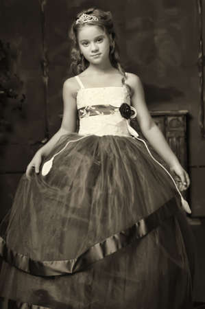 little princess in  smart dress and tiara photo