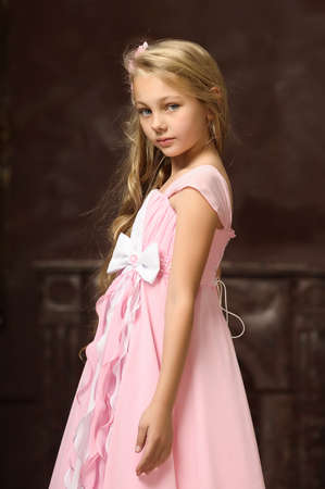 close to: girl in a pink dress