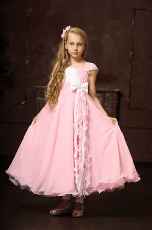 aristocrat: girl in a pink dress