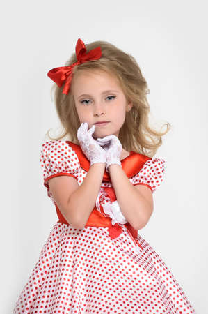 a little girl dressed in the style of the 60s Stock Photo - 15429023