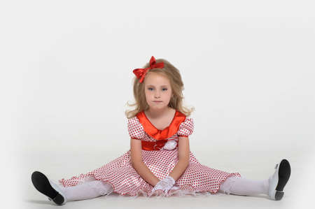 a little girl dressed in the style of the 60s Stock Photo - 15429014