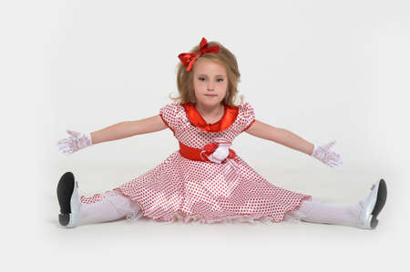 a little girl dressed in the style of the 60s Stock Photo - 15429019