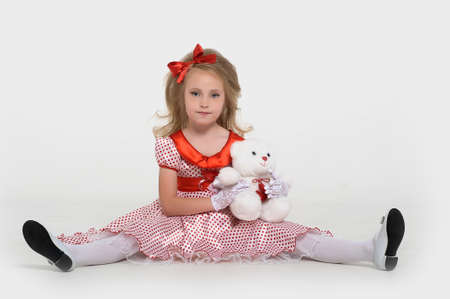 a little girl dressed in the style of the 60s Stock Photo - 15429017