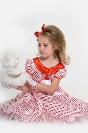 a little girl dressed in the style of the 60s Stock Photo - 15429026