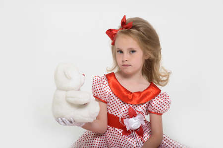 a little girl dressed in the style of the 60s Stock Photo - 15429016