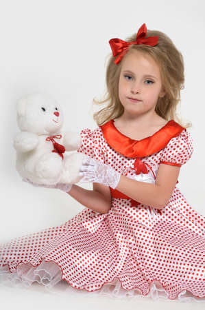 a little girl dressed in the style of the 60s Stock Photo - 15429029