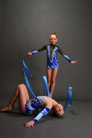 two gymnasts photo