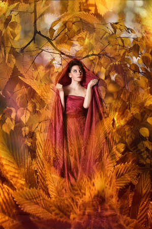 autumn woman Stock Photo - 15338367