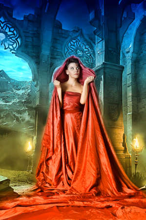 medieval mystical image of women photo