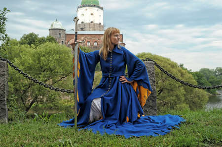 woman in medieval dress photo