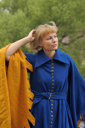 woman in medieval dress Stock Photo - 15412350