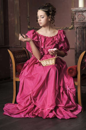 medieval woman: Young victorian lady