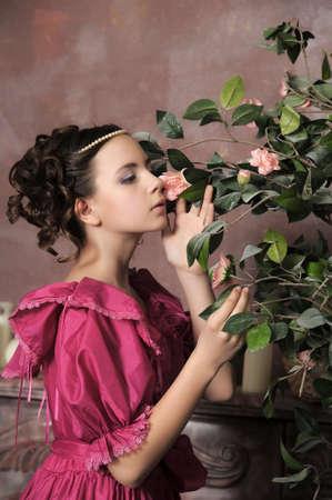 castillos de princesas: Victorian lady Young Foto de archivo