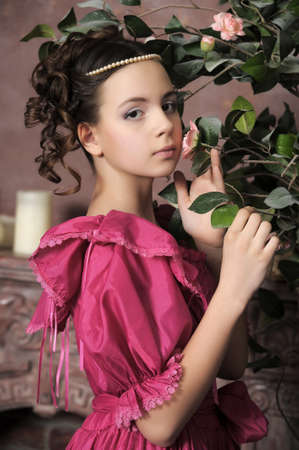 Young victorian lady Stock Photo - 15412386