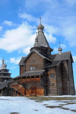 novgorod: Wooden historic house in Veliky Novgorod, Russia Stock Photo