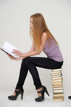 Student with books preparing for exams