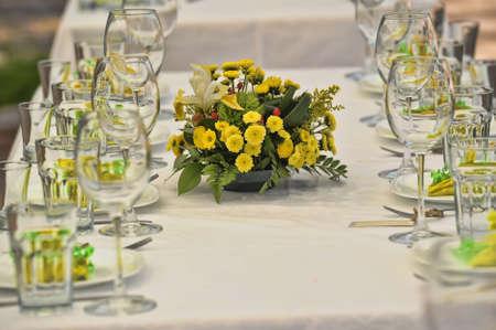 瀬戸物: ファンシー テーブル結婚式 lucnh の設定