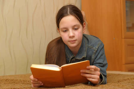 girl reading book Stock Photo - 15455217