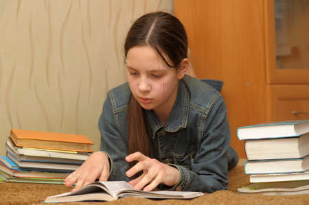 girl reading book Stock Photo - 15455227