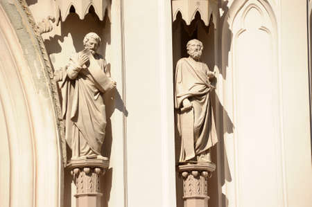 The figures of saints on the Catholic cathedral Stock Photo - 15617888