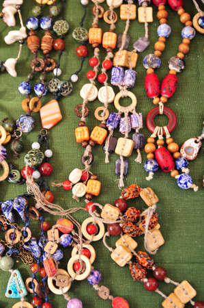 Ceramic beads necklace photo