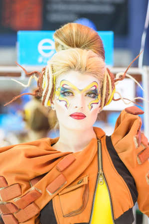 International Beauty Expo Championship on Hairdressing, Nail Design and Make-up for the Cup of Russia. International Festival of Beauty Nevskie berega Russia, St. Petersburg