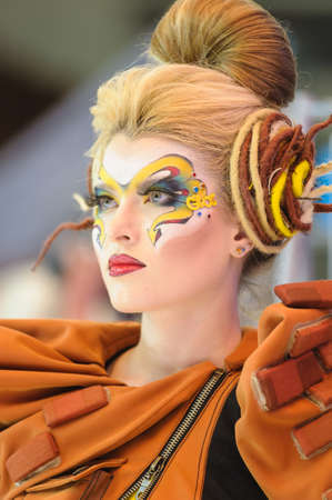 International Beauty Expo Championship on Hairdressing, Nail Design and Make-up for the Cup of Russia. International Festival of Beauty 'Nevskie berega' Russia, St. Petersburg