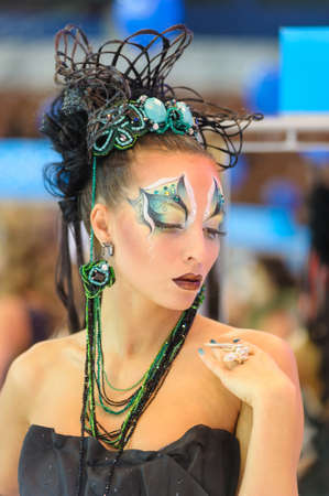"""International Beauty Expo Championship on Hairdressing, Nail Design and Make-up for the Cup of Russia. International Festival of Beauty """"Nevskie berega"""" Russia, St. Petersburg"""