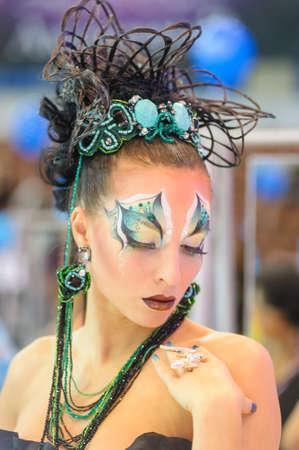 """Campionato Internazionale Expo Beauty di parrucchiere, Nail Design e Make-up per la Coppa di Russia. Festival Internazionale di Bellezza """"Nevskie Berega"""" Russia, San Pietroburgo"""