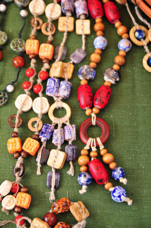 Ceramic beads necklace Stock Photo - 15809661