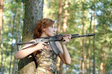 woman with a gun Stock Photo - 15805286