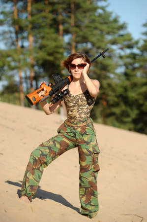 woman with a gun Stock Photo - 15805279