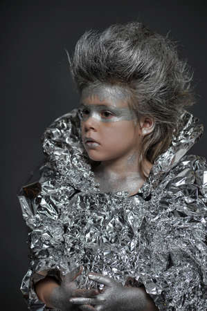 boy in a silver suit photo