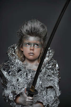 boy in silver Stock Photo - 17108290