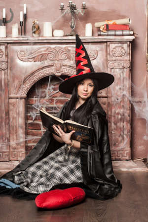 prognostication: Halloween witch Stock Photo