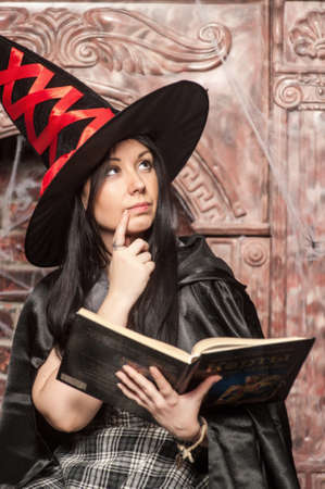 witch with a book of spells photo