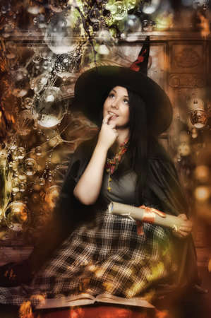 Halloween witch photo