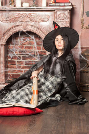 bewitched: Halloween witch Stock Photo
