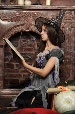clairvoyance: Halloween witch Stock Photo