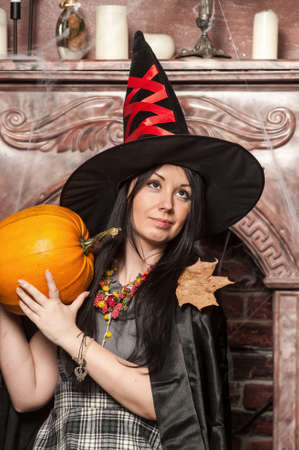 Witch with pumpkin Stock Photo - 19000509