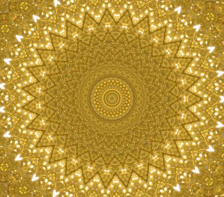 yellow circular ornament Stock Photo - 16219718